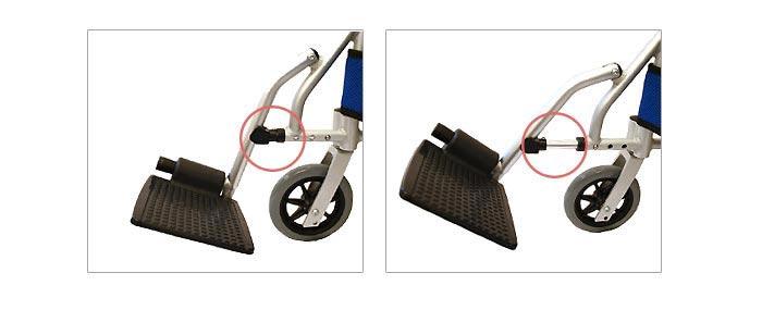 介助式アルミ製車椅子 CA-80SU車椅子画像4枚目