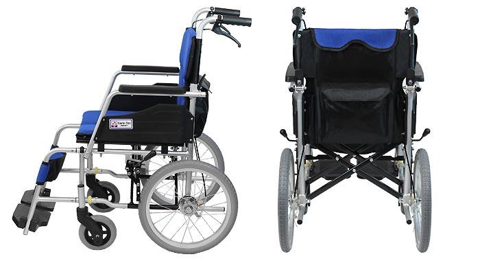 介助式アルミ製車椅子 ハピネスコンパクト 介助式 CA-13SU