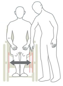 車椅子の座幅の選び方イメージ