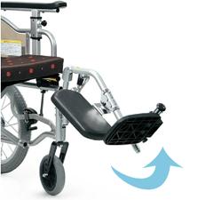 車椅子の脚部エレベーティング機能