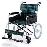 マキライフテック アルミ製介助式車椅子EW-30GN