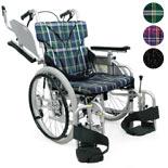 【カワムラサイクル】室内用六輪車いす こまわりくん KAK18-40B-LO