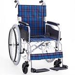 【マキライフテック】ワイドタイプ車椅子 KS50-4643NC