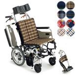 【MiKi/ミキ】Skit(スキット)シリーズ SKT-7ティルト仕様 介助式車椅子
