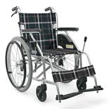 【カワムラサイクル】アルミ製 自走介助兼用車椅子 KV22-40SB