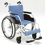 【松永製作所】ECOシリーズ アルミ製スタンダード自走式車椅子ECO-201B